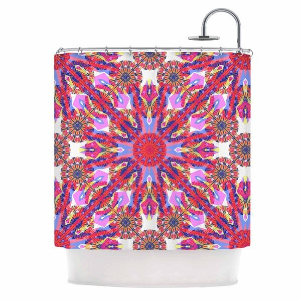 KESS InHouse Miranda Mol Kaleidoscopic Floral Pink Purple Shower Curtain (69x70)
