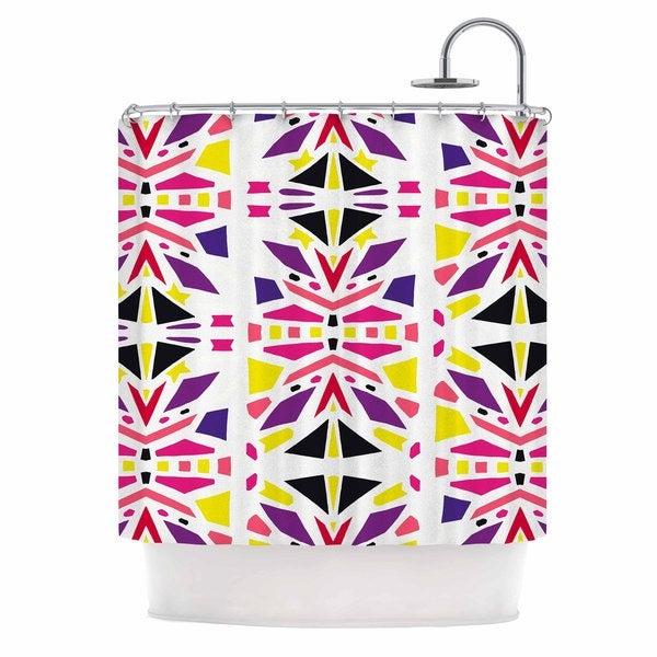 KESS InHouse Miranda Mol Summer Mood Yellow Purple Shower Curtain (69x70)