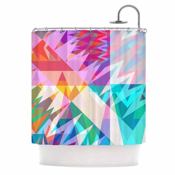 KESS InHouse Miranda Mol Triangle Feast Abstract Geometric Shower Curtain (69x70)