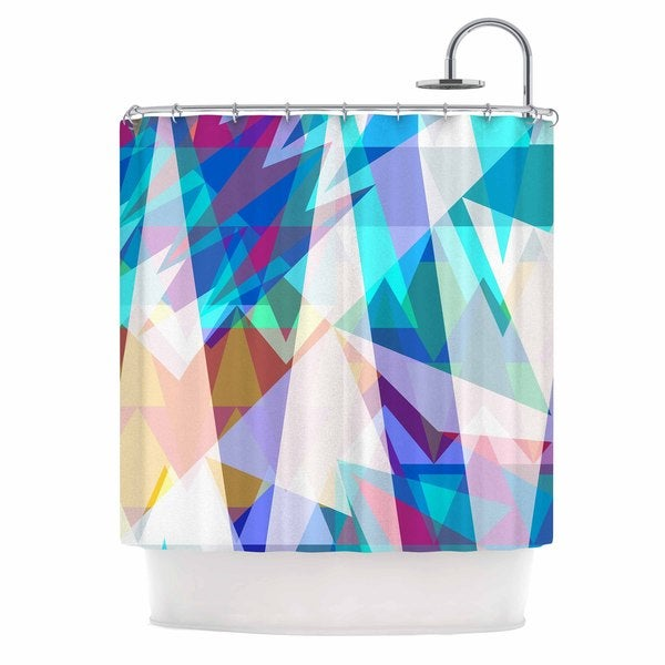 KESS InHouse Miranda Mol Triangle Party Multicolor Shower Curtain (69x70)
