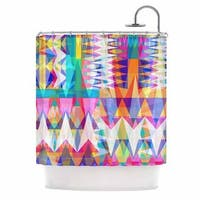 KESS InHouse Miranda Mol Triangle Collage Pastel Geometric Shower Curtain (69x70)