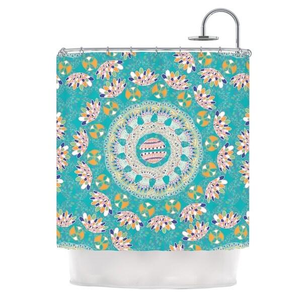 KESS InHouse Miranda Mol Luscious Blue Pink Shower Curtain (69x70)