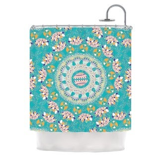 KESS InHouse Miranda Mol Luscious Blue Pink Shower Curtain (69x70)