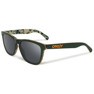 Oakley Koston Frogskins OO204314 Men's Dark Green/Black Iridium Lens - 57mm Sunglasses