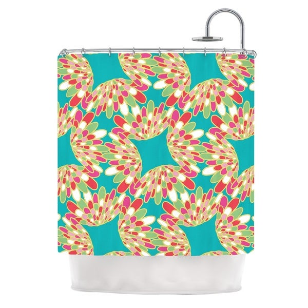 KESS InHouse Miranda Mol Wings Green Teal Shower Curtain (69x70)
