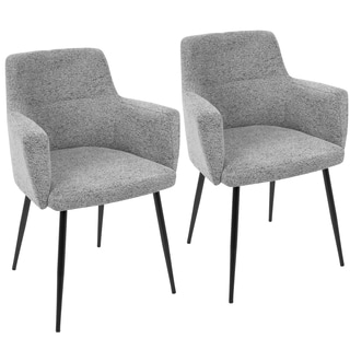 LumiSource Andrew Contemporary Fabric Dining and Accent Chair (Set of 2)