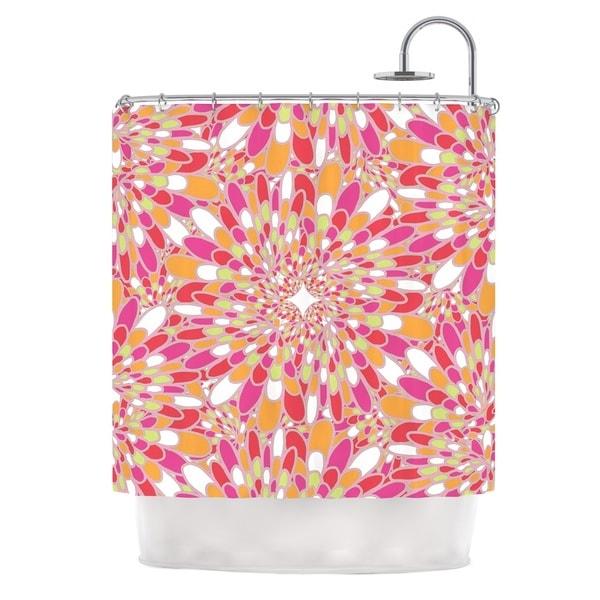 KESS InHouse Miranda Mol Flourishing Pink Pink Orange Shower Curtain (69x70)
