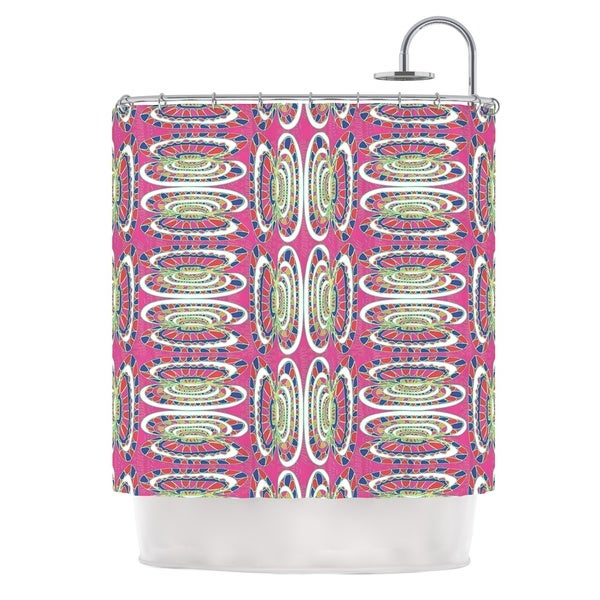 KESS InHouse Miranda Mol Bohemian Wild Pink Abstract Shower Curtain (69x70)