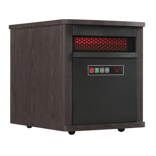 Portable Infrared Quartz Space Heater, Espresso