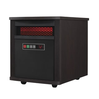 Portable Electric Infrared Quartz Heater, Espresso