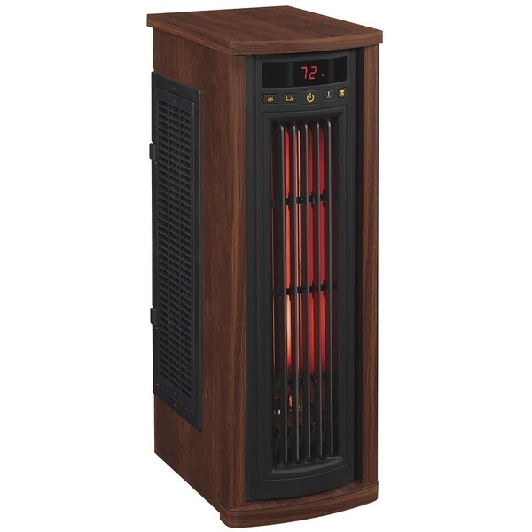 Portable Electric Infrared Quartz Oscillating Tower Heater, Cherry