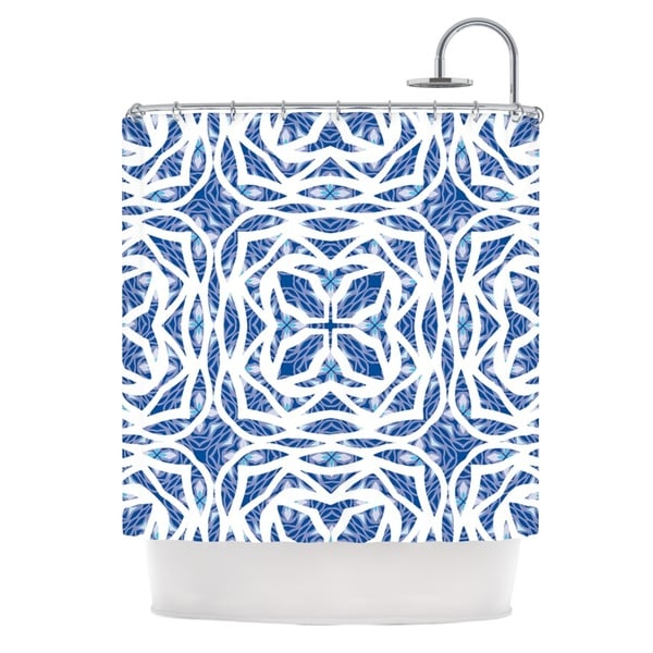 KESS InHouse Miranda Mol Blue Explosion Shower Curtain (69x70)