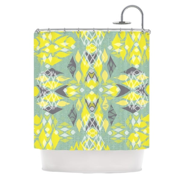 KESS InHouse Miranda Mol Joyful Teal Shower Curtain (69x70)