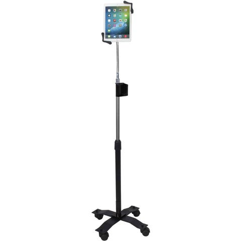CTA Digital Compact Gooseneck Floor Stand for 7-13 Inch Tablets