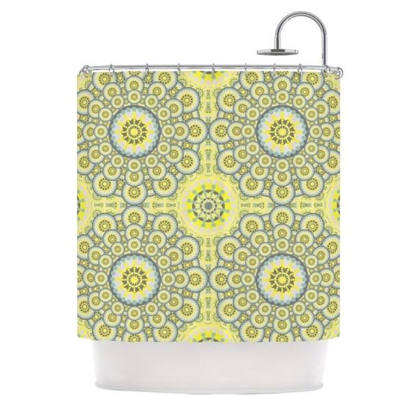 KESS InHouse Miranda Mol Multifaceted Flowers Shower Curtain (69x70)