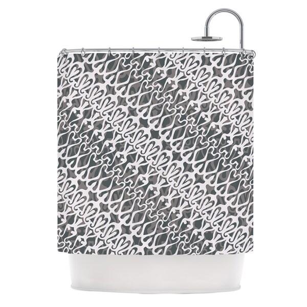 KESS InHouse Miranda Mol Silver Lace Shower Curtain (69x70)