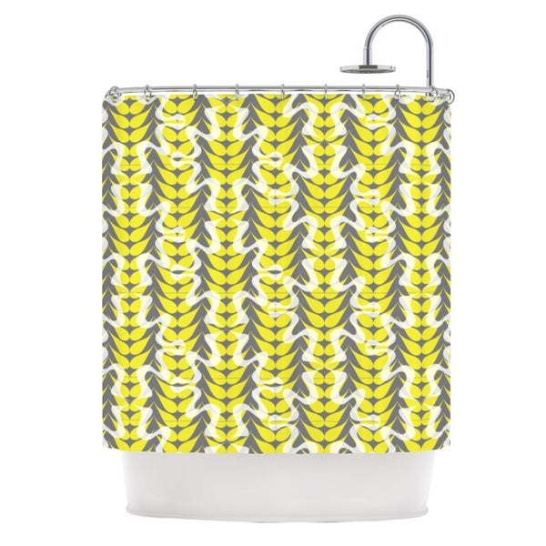 KESS InHouse Miranda Mol Whirling Leaves Shower Curtain (69x70)