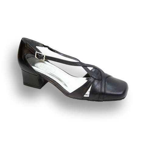 FIC PEERAGE Alexa Women Wide Width Leather Pump