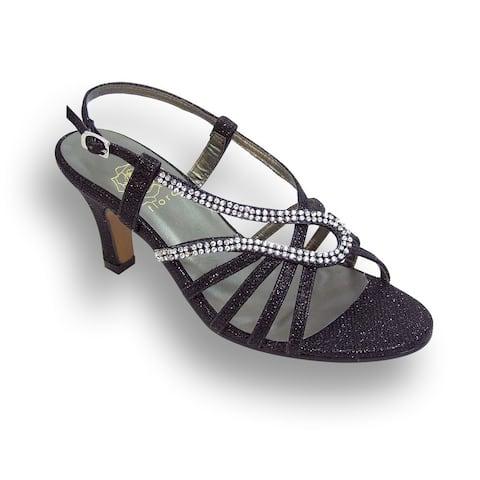 FIC FLORAL Danielle Women Wide Width Open Toe Dress Sandal