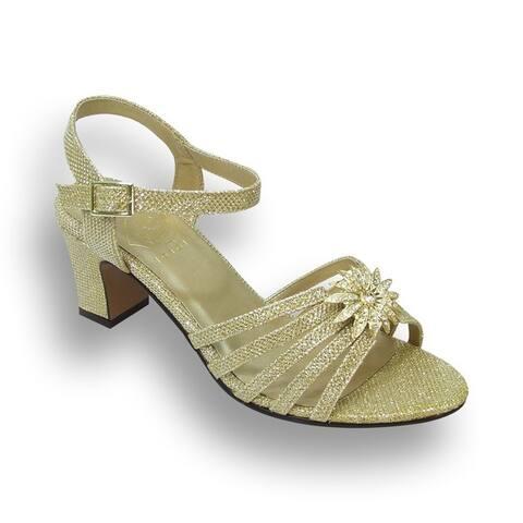 FLORAL Melina Women Extra Wide Width Open Toe Dress Sandal