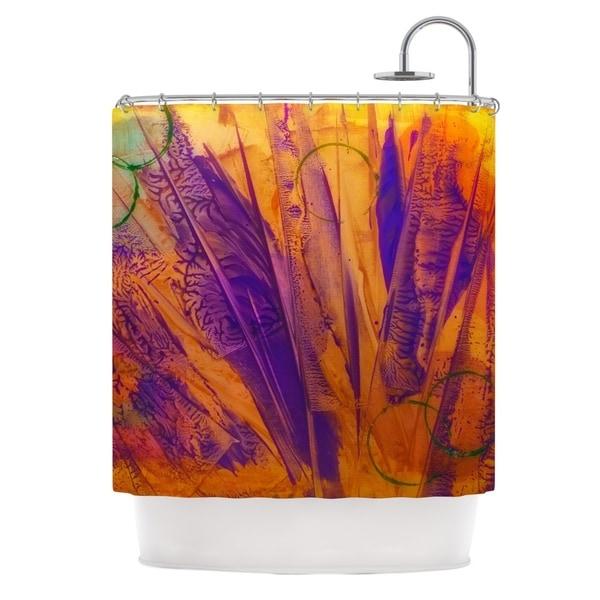 Shop KESS InHouse Malia Shields Together Purple Orange Shower Curtain 69x70