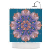 KESS InHouse Michael Sussna Whisker Lily Orange Teal Shower Curtain (69x70)