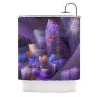 KESS InHouse Michael Sussna Purple Mountain Majesty Purple Shower Curtain (69x70)