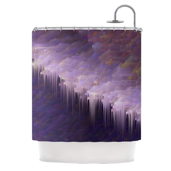 KESS InHouse Michael Sussna Malibu Purple Shower Curtain (69x70)