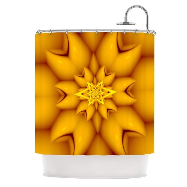 KESS InHouse Michael Sussna Citrus Star Orange Yellow Shower Curtain (69x70)