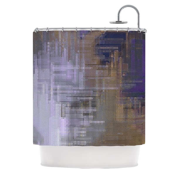 KESS InHouse Michael Sussna Reach for the Sky Purple Brown Shower Curtain (69x70)