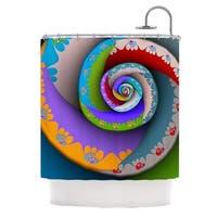 KESS InHouse Michael Sussna Flor Essence Rainbow Spiral Shower Curtain (69x70)