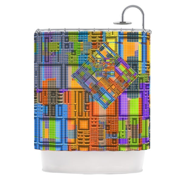 KESS InHouse Michael Sussna Tile Rep Abstract Shower Curtain (69x70)
