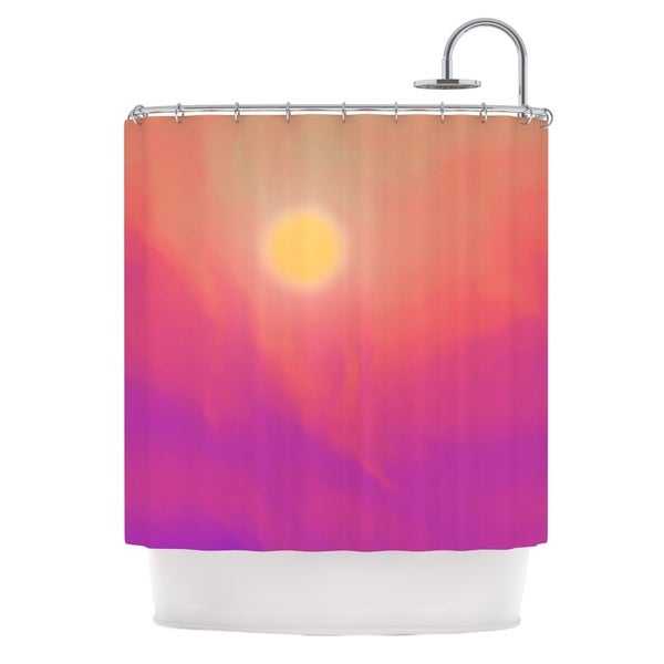 KESS InHouse Michael Sussna Yosemite Dawn Pink Orange Shower Curtain (69x70)