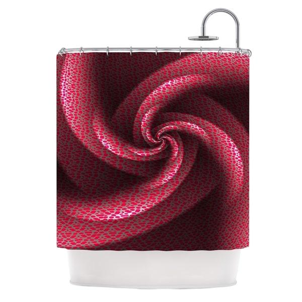 KESS InHouse Michael Sussna Isabella's Pinwheel Red Shower Curtain (69x70)