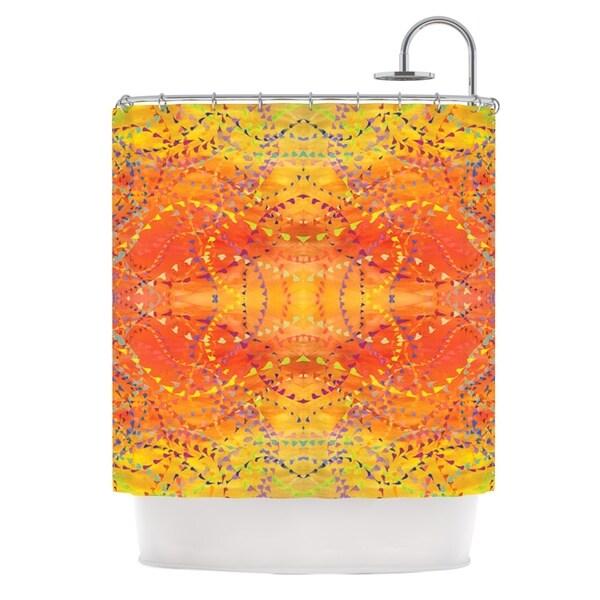 KESS InHouse Nikposium Sunrise Orange Gold Shower Curtain (69x70)