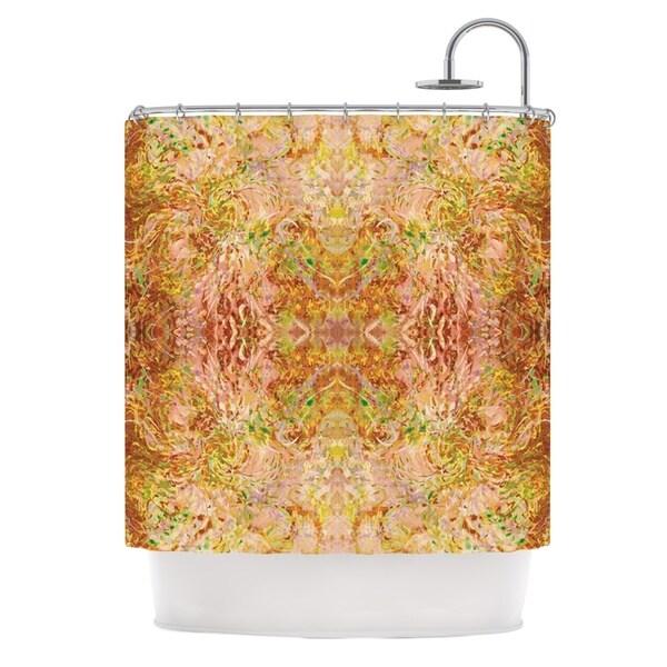 KESS InHouse Nikposium Goldenrod II Yellow Gold Shower Curtain (69x70)