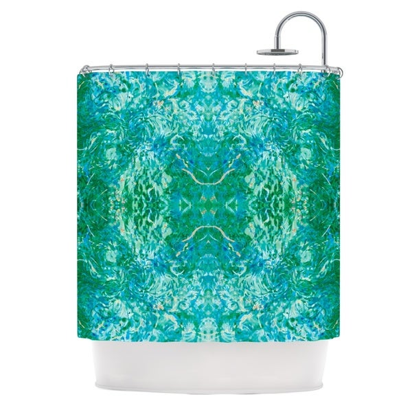 KESS InHouse Nikposium Eden Teal Green Shower Curtain (69x70)