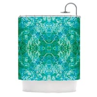 KESS InHouse Nikposium Eden Teal Green Shower Curtain (69x70)