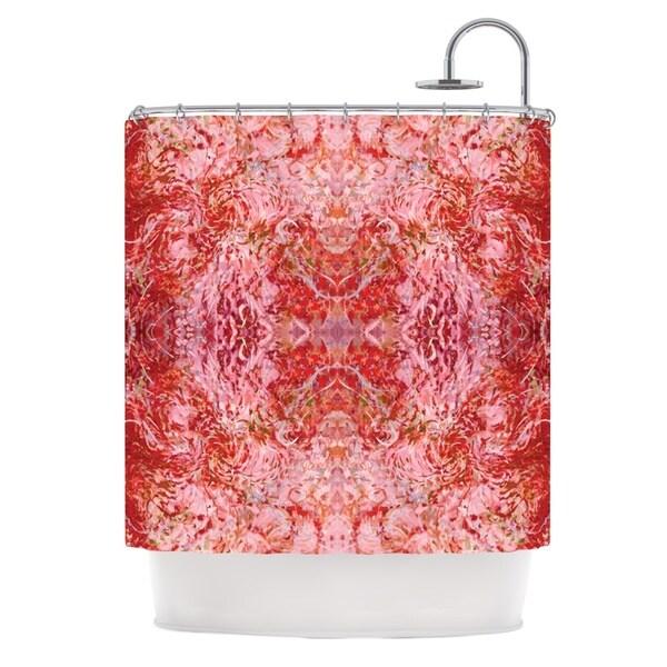 KESS InHouse Nikposium Chili Pink Red Shower Curtain (69x70)