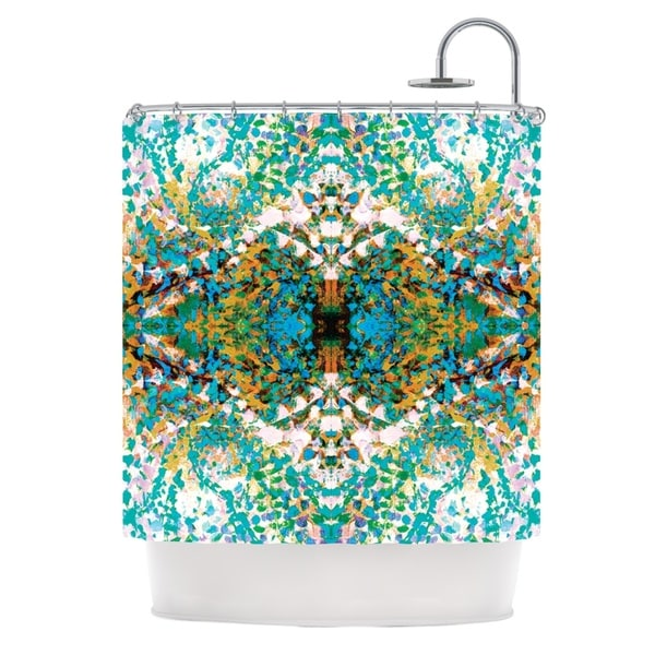 KESS InHouse Nikposium Summer Breeze Blue Teal Shower Curtain (69x70)
