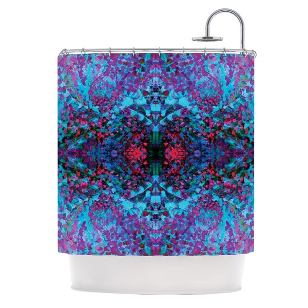KESS InHouse Nikposium Boysenberry Blue Purple Shower Curtain (69x70)