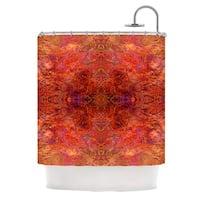 KESS InHouse Nikposium Sedona Orange red Shower Curtain (69x70)