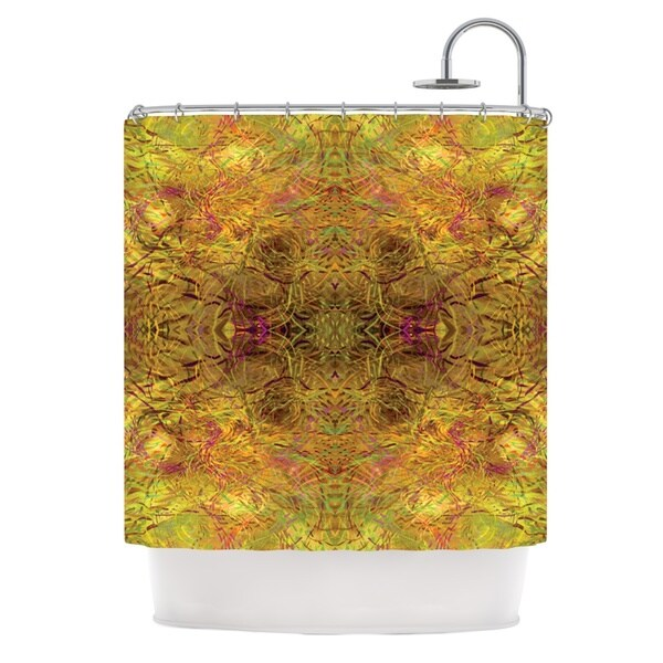 KESS InHouse Nikposium Goldenrod Gold Yellow Shower Curtain (69x70)