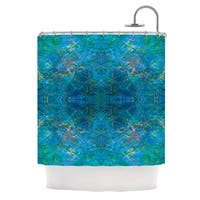 KESS InHouse Nikposium Clearwater Blue Teal Shower Curtain (69x70)