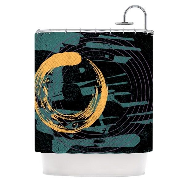 KESS InHouse Micah Sager Weekend Teal Orange Shower Curtain (69x70)
