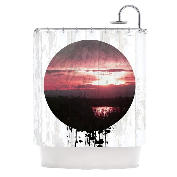 KESS InHouse Micah Sager Valley Sunset Splatter Shower Curtain (69x70)