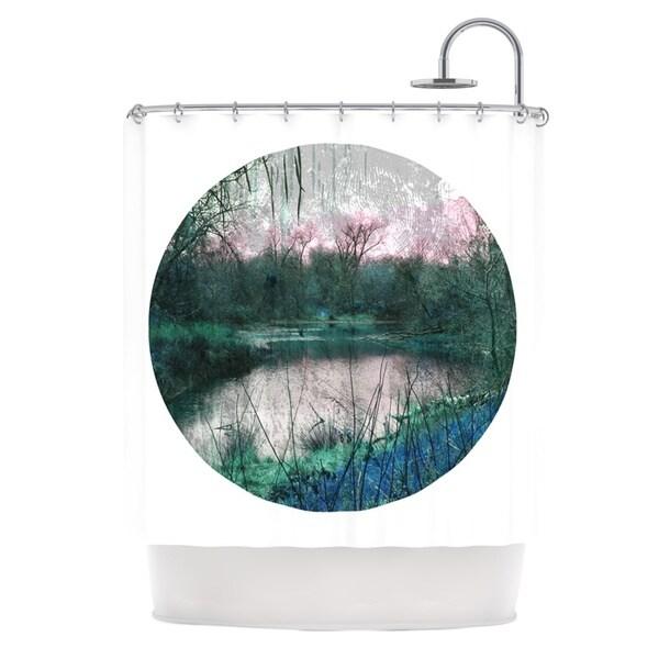 KESS InHouse Micah Sager Swamp Lake Circle Shower Curtain (69x70)