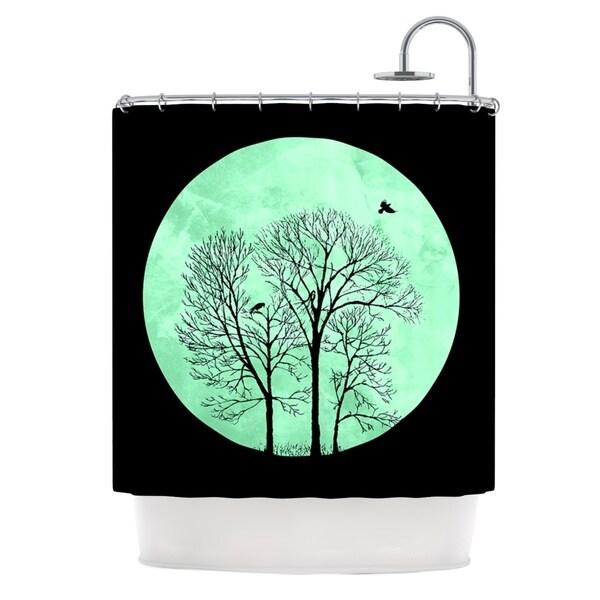 KESS InHouse Micah Sager Perch Teal Circle Shower Curtain (69x70)