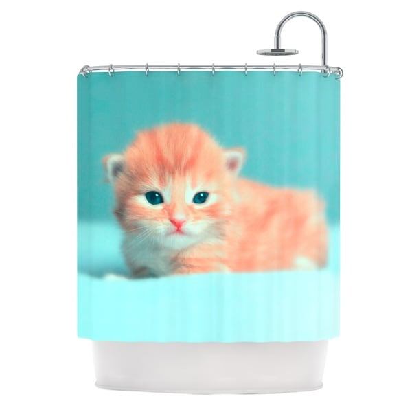 KESS InHouse Monika Strigel Dreamcat Orange Blue Shower Curtain (69x70)