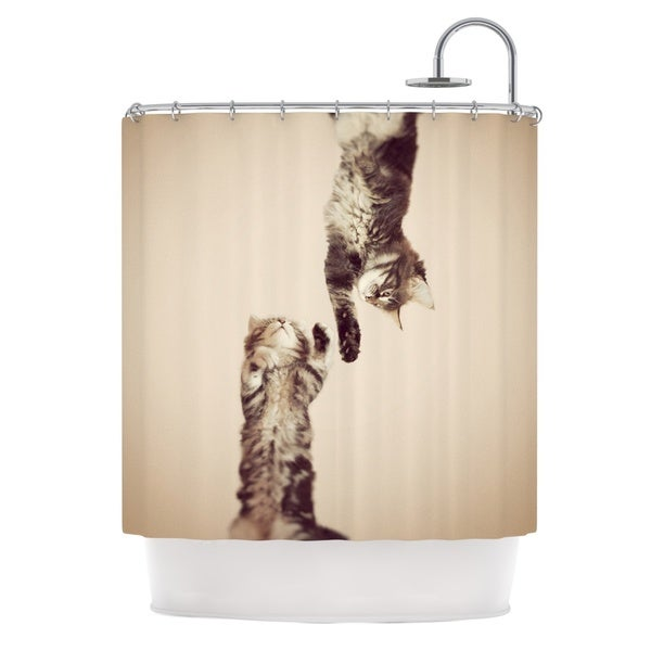 Genial KESS InHouse Monika Strigel Upside Down Brown Cats Shower Curtain (69x70)